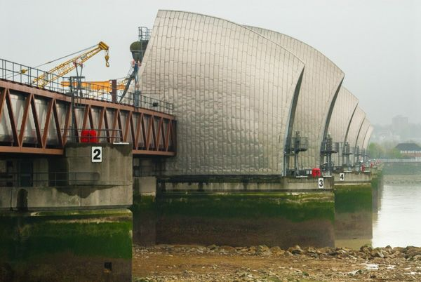 Thames Barrier photo, The north bank Barrier