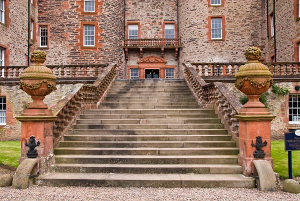 Thirlestane Castle  photo, The grand entrance stair