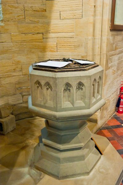 Thixendale, St Mary's Church photo, Font
