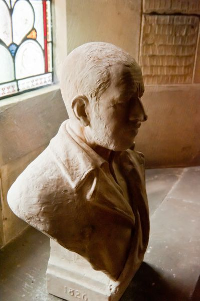 Thixendale, St Mary's Church photo, Sir Tatton Sykes bust