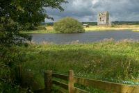 Threave Castle, First glimpse of the castle