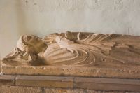 Thwing, All Saints Church, Medieval effigy