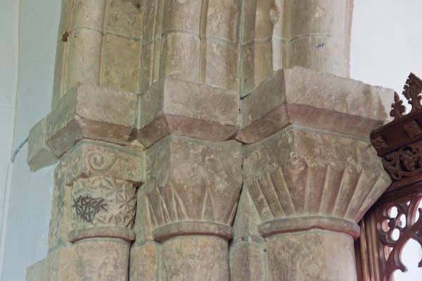 Thwing, All Saints Church photo, Chancel arch capitals
