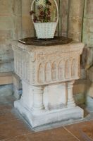Tickencote, St Peter's Church, 13th century font