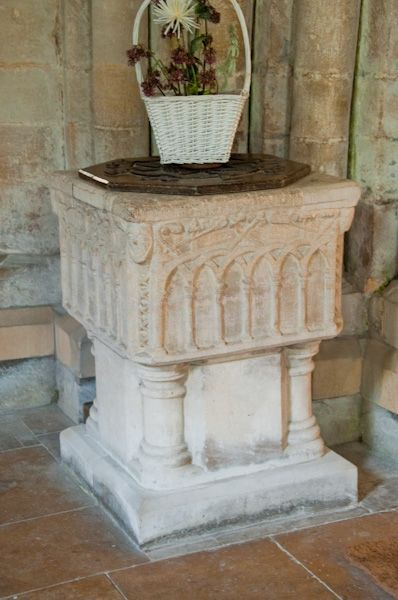 Tickencote, St Peter's Church photo, 13th century font