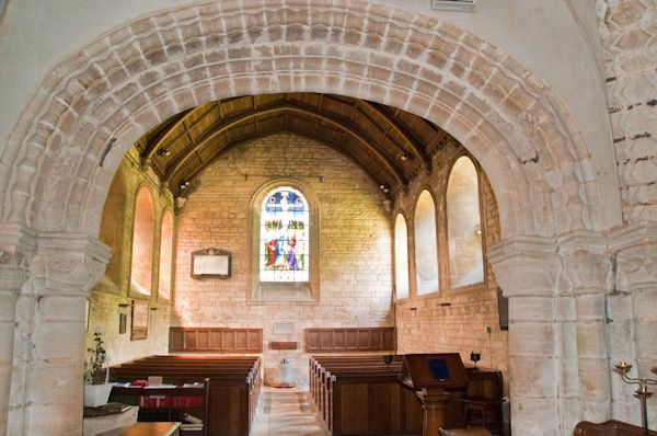 Tickencote, St Peter's Church photo, Chancel arch from rear