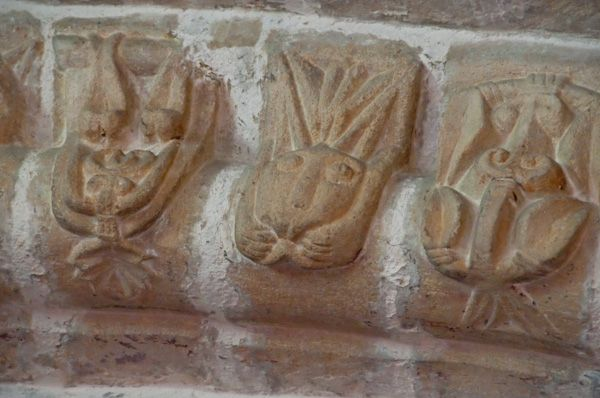 Tickencote, St Peter's Church photo, Carved heads