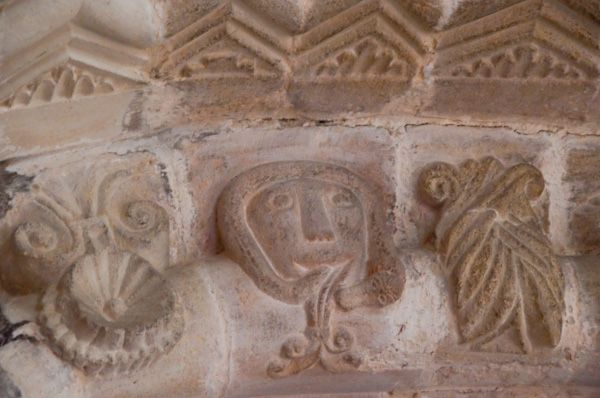 Tickencote, St Peter's Church photo, Carved heads 3