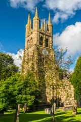Tideswell, St John the Baptist Church, The late 14th century west tower