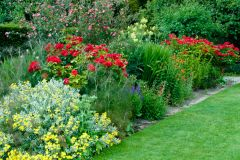 Tintinhull Garden, Colourful flower beds