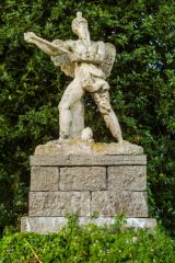 Neoclassical statue in the gardens
