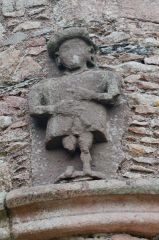 Carved figure over the entrance
