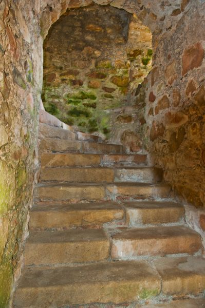 Tolquhon Castle photo, A winding stair to the Gallery