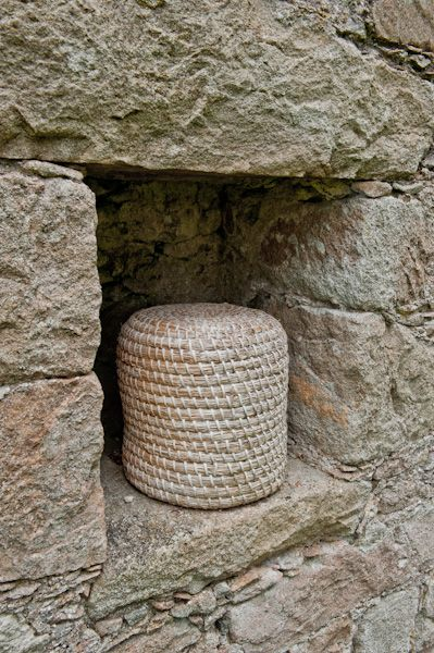 Tolquhon Castle photo, A skep, or woven bee-hive