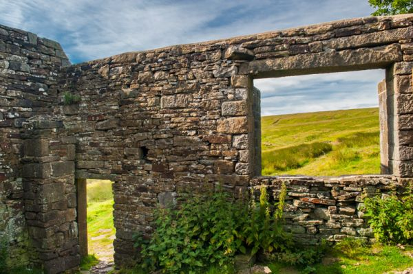 Top Withens photo, Looking out on open moorland from inside Top Withens