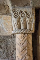 Saxon carved pillar beside the south door