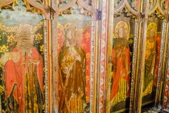 Medieval painted rood screen