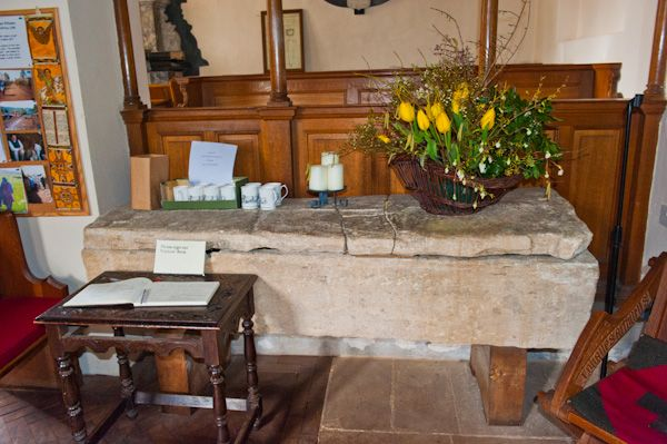 Turville, St Mary's Church photo, Stone coffin