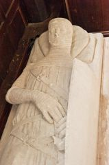 Wimborne St Giles Church, Sir John de Plecy 14th century effigy