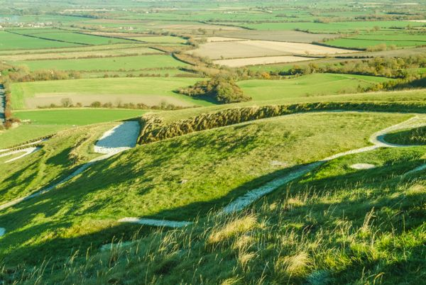 Uffington White Horse photo, The White Horse from above