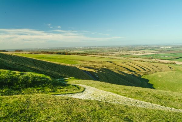 Wantage photo, Uffington White Horse from above