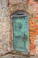Studded copper door to the gunpowder store