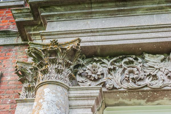 Uppark photo, Corinthian column flanking the doorway