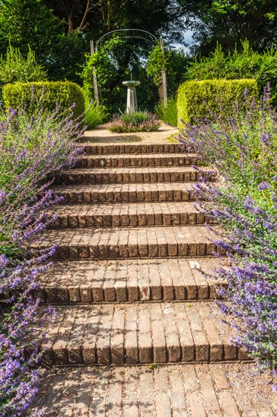 Uppark photo, Steps in the garden