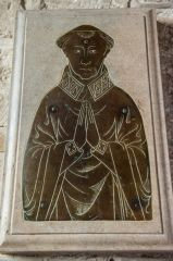 Upton Lovell, St Augustine of Canterbury Church, 14th century priest's brass