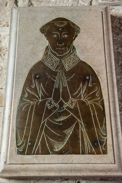 Upton Lovell, St Augustine of Canterbury Church photo, 14th century priest's brass