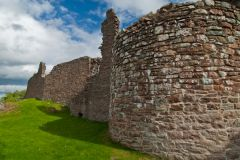 Urquhart Castle, The perimeter wall and corner tower