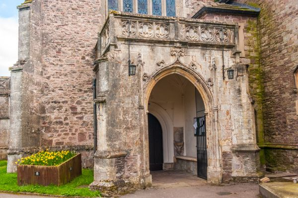 Usk, St Mary's Priory Church photo, The 15th century porch
