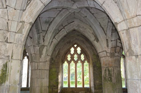 Valle Crucis Abbey photo, Chapter house vaulting