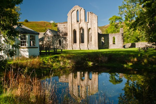 Valle Crucis Abbey photo, View from the fishpond