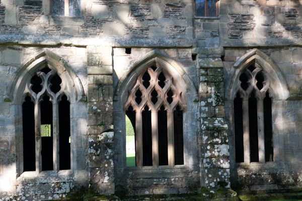 Valle Crucis Abbey photo, Chapter house windows