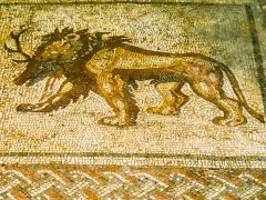 Mosaic of a mythological creature