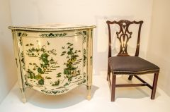 Victoria and Albert Museum, Chippendale cabinet and chair