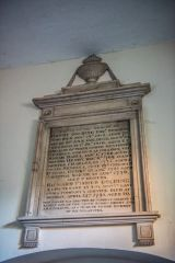Golding family memorial in the tower