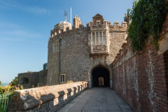 The main entrance to Walmer Castle