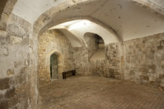 Tudor storerooms in the castle basement