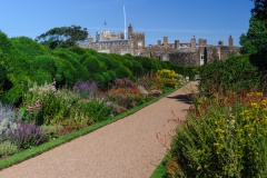 Formal garden borders and path