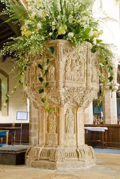 Walsoken Church photo, The Seven Sacrament font