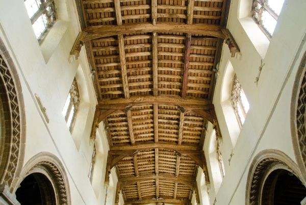 Walsoken Church photo, The medieval hammer-beam roof
