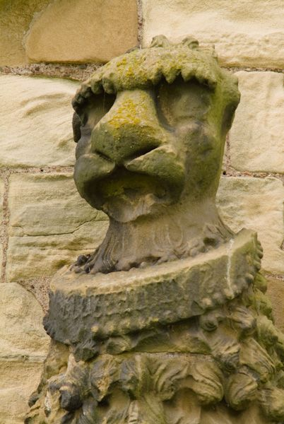 Warkworth Castle photo, Percy emblem carving