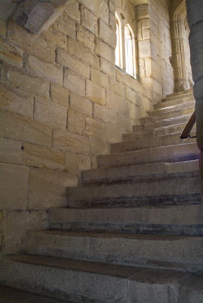 Warkworth Castle photo, Interior stairs