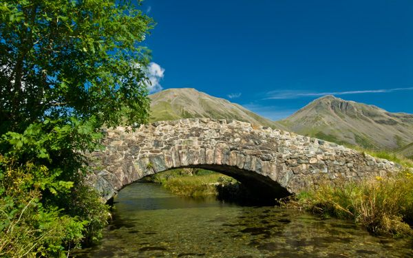 Wast Water lake photo, The old bridge at Wasdale Head
