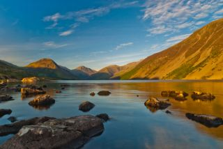 Wast Water lake, The sun sets over Wast Water