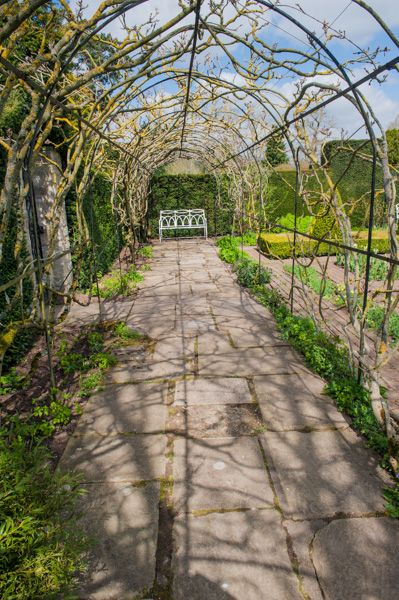Waterperry Gardens photo, A shaded walk in spring