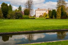 Waterperry Gardens, The house and formal canal