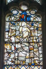 15th century stained glass, west window